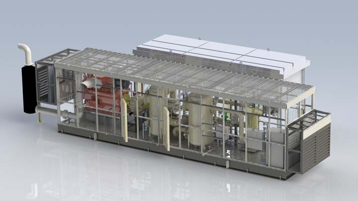 Cobey Screw Compressor Package Rendered Model